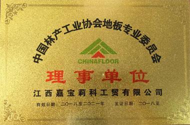 中国林产工业协会地板专业委员会理事单位